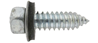 Hex head screw with bonded washer