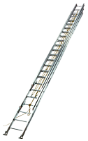 60 Feet (ft), Louisville<sup>™</sup> Type I-A Rated 3 Section Aluminum Industrial Extension Ladders