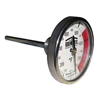 4 Inch (in) ROOFMASTER<sup>®</sup> Stem Dial Thermometer