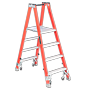 Louisville<sup>™</sup> Twin Front Platform Cross Step Ladders